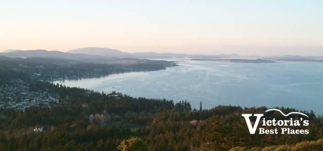 Cordova Bay View from Mt Doug