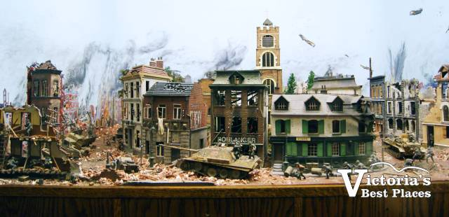 Miniature World War Scene Display