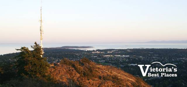 Mt Doug View at Dusk