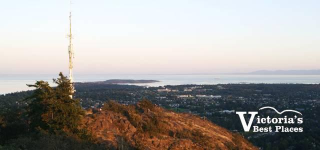 Mt Doug View at Dusk