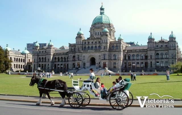Legislative Buildings and Horse-Drawn Carriage
