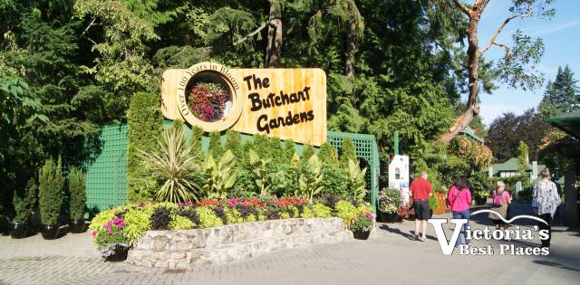 Entrance at Butchart Gardens