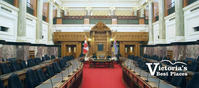 Interior of BC Legislature
