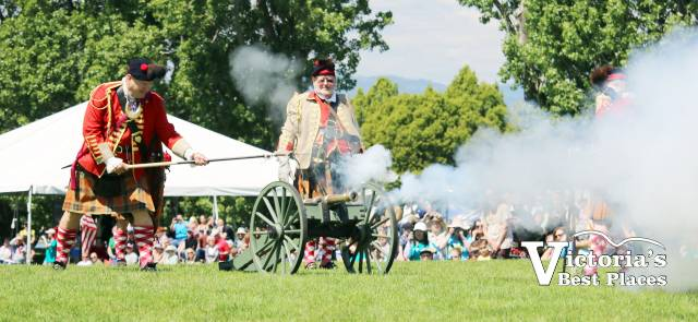 Cannon Firing at Highland Games