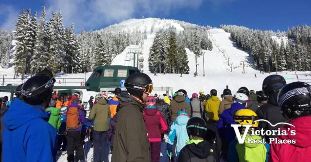 Mt. Washington Skier Crowds