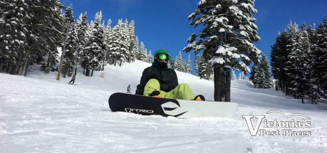 Snowboarding at Mt. Washington