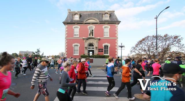Victoria Marathon Runners on Wharf Street